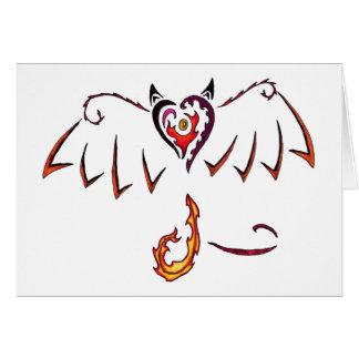 Fiery Wings Note Card