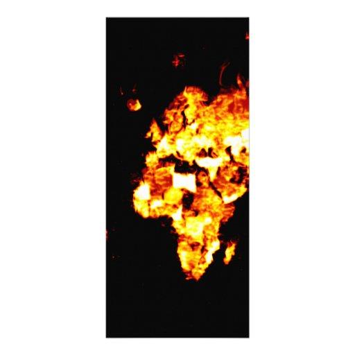 Fiery World Map Illustration Rack Card Template