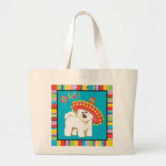 Fiesta Bichon Large Tote Bag
