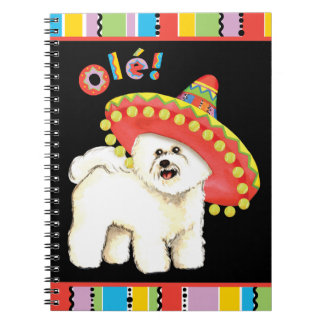 Fiesta Bichon Spiral Notebook