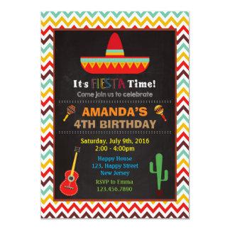 Fiesta Birthday Invitation