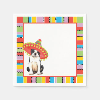 Fiesta Boston Terrier Disposable Serviettes