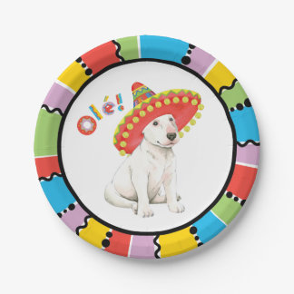 Fiesta Bull Terrier Paper Plate