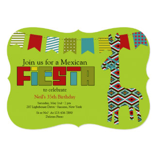 Fiesta Burro Invitation
