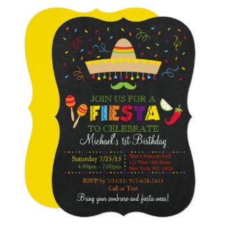 Fiesta Chalkboard Birthday Card