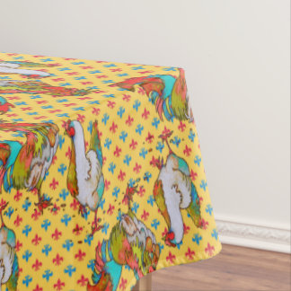 """Fiesta Chickens Cotton Tablecloth, 52""""x70"""" Tablecloth"""