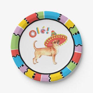 Fiesta Chihuahua 7 Inch Paper Plate
