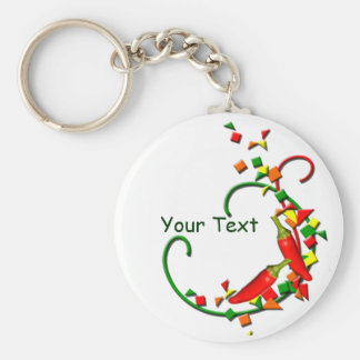 Fiesta Chili Peppers keychain