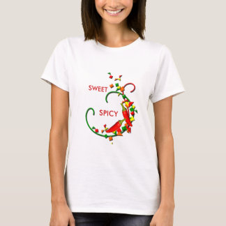 Fiesta Chili Peppers Ladies White T-shirt