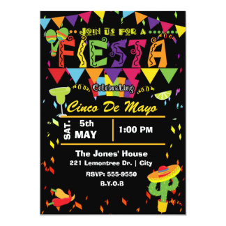 Fiesta Cinco De Mayo Mexican Party Invitation