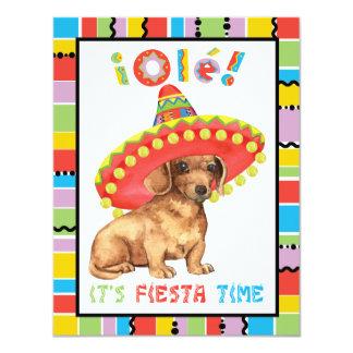 Fiesta Dachshund 11 Cm X 14 Cm Invitation Card