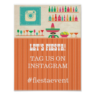 Fiesta Instagram Sign  Party Photo Wedding Event