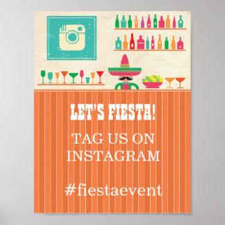 Fiesta Instagram Sign  Party Photo Wedding Event Poster