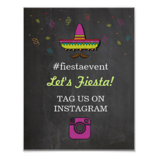 Fiesta Instagram Sign Photo Couple's Shower Party