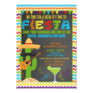 Fiesta Invitation - Mexican Party Invitation