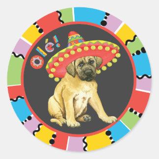 Fiesta Mastiff Classic Round Sticker