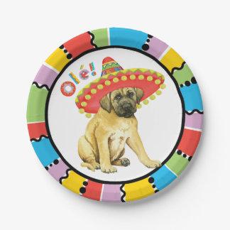 Fiesta Mastiff Paper Plate
