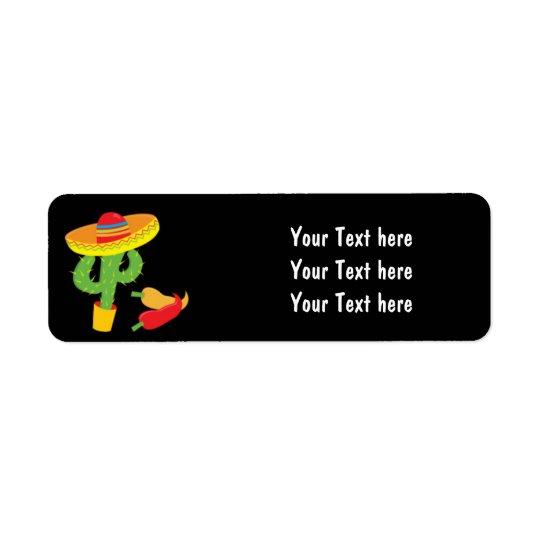 Fiesta Mexican Cinco De Mayo Party Address Labels