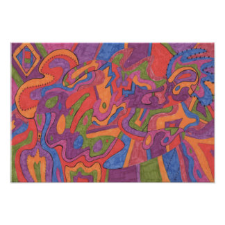 Fiesta, Original Abstract 19x13 Poster