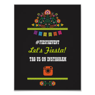Fiesta Party Instagram Sign Photo Wedding Event