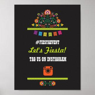 Fiesta Party Instagram Sign Photo Wedding Event Poster