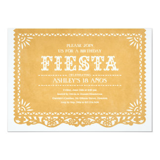 Fiesta Party Papel Picado Invitations