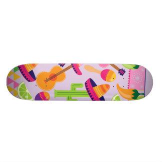 Fiesta Party Sombrero Cactus Limes Peppers Maracas 20.6 Cm Skateboard Deck