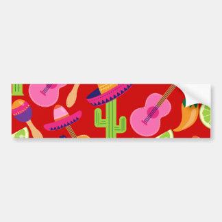 Fiesta Party Sombrero Limes Guitar Maraca Saguaro Bumper Stickers