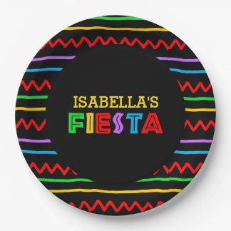 Fiesta Personalized Paper Plate