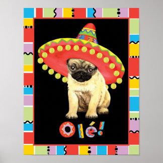 Fiesta Pug Poster