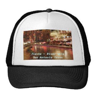 Fiesta ~ River Walk San Antonio Texas Trucker Hats