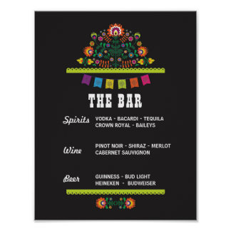 Fiesta Sign The Bar Party Event Wedding Shower Poster