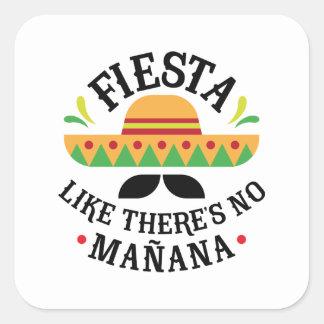 Fiesta Square Sticker