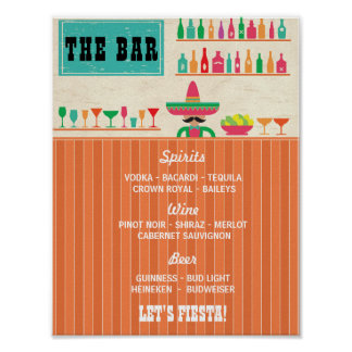 Fiesta The Bar Party Event Sign Wedding Reception