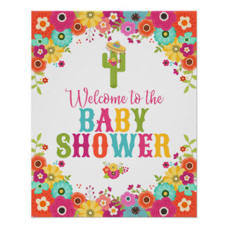 Fiesta Theme Welcome Poster- Baby Shower Poster