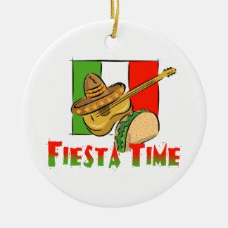 Fiesta Time Ceramic Ornament