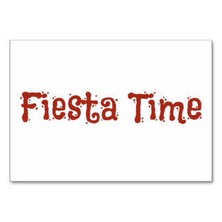 Fiesta Time Taco Table Cards