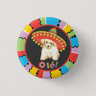 Fiesta Toy Poodle 3 Cm Round Badge