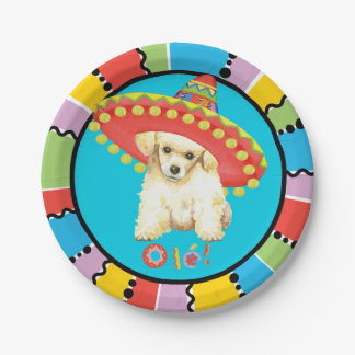 Fiesta Toy Poodle 7 Inch Paper Plate
