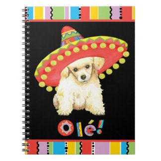 Fiesta Toy Poodle Spiral Note Book