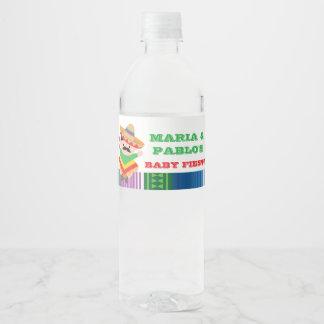 Fiesta Water Bottle Labels