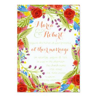"Fiesta Wedding 5"" X 7"" Invitation Card"