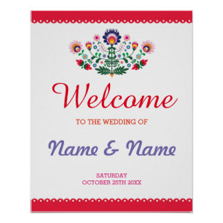 Fiesta Welcome Poster Wedding Mexican Poster