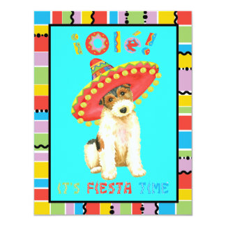 Fiesta Wire Fox Terrier Card