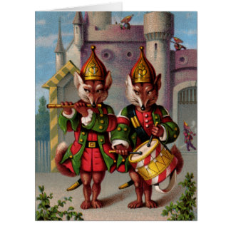 Fife & Drum Foxes Big Greeting Card