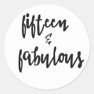 Fifteen & Fabulous - Quinceanera Stickers