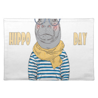 Fifteenth February - Hippo Day - Appreciation Day Placemat