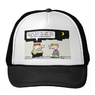 fifth amendment truth shall make you free trucker hat