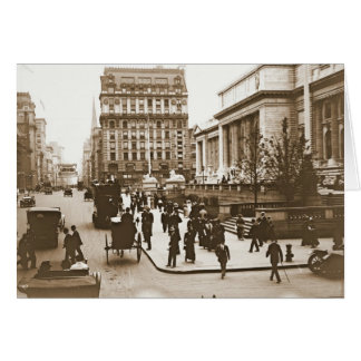 Fifth Avenue and New York City Public Library 1908 Card