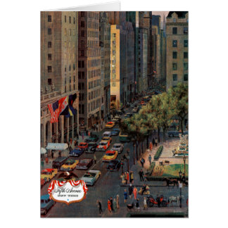 Fifth Avenue by John Falter Card